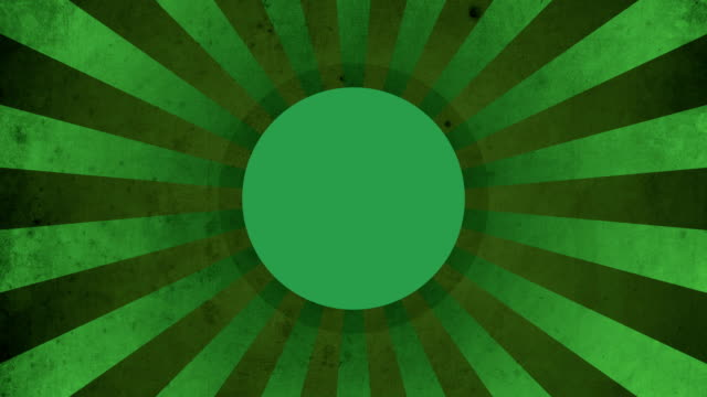 Circle Green Vintage Loop Background 4K video