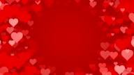 Circle of Hearts over Red Background (Loopable) video