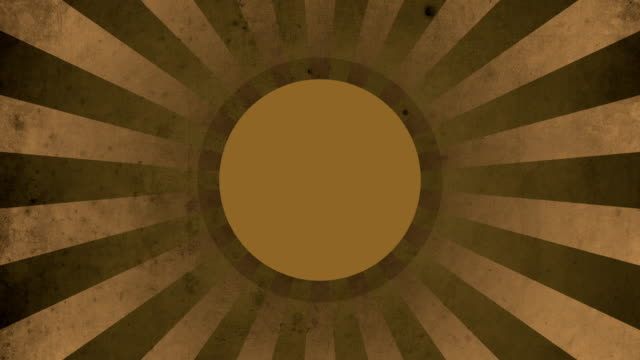 Circle Orange Vintage Loop Background 4K video