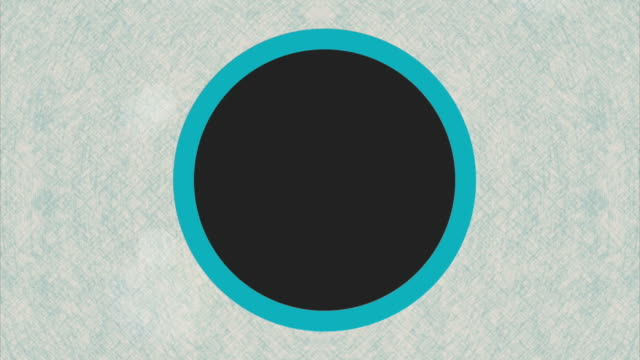 Circle  over blue background video