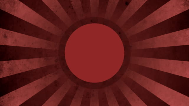 Circle Red Vintage Loop Background 4K video
