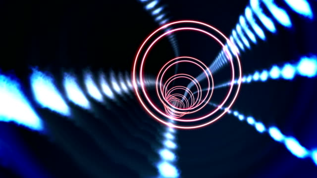 Circle vortex design on black video