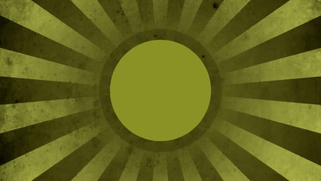 Circle Yellow Vintage Loop Background 4K video