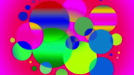Circles changing in a spectrum of colors video