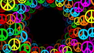 Circles of Multicolored Peace Symbols (Loopable) video
