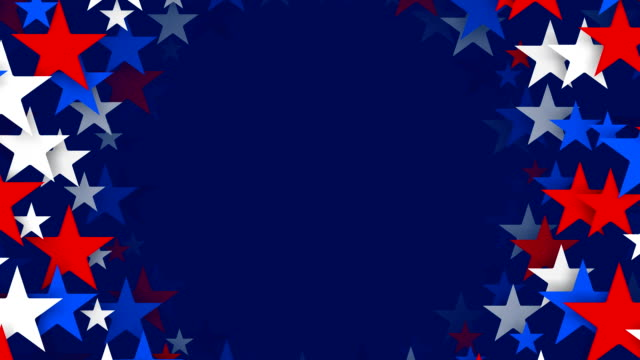 Circles of Red, White and Blue Stars Spinning (Loopable) video
