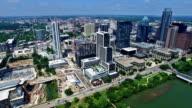 circling around Austin Texas Aerial Cityscape Skyline video
