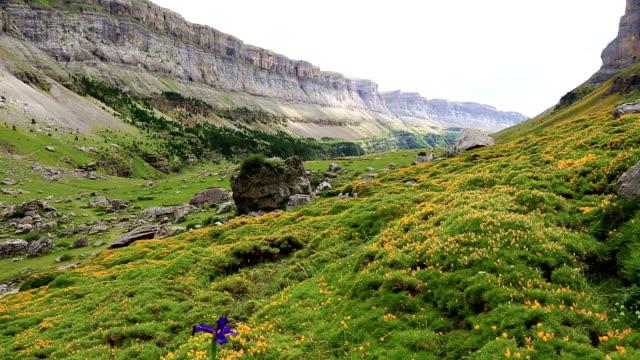 Circo de Soaso Monte Perdido in Ordesa Valley at Huesca Aragon Pyrenees spain video
