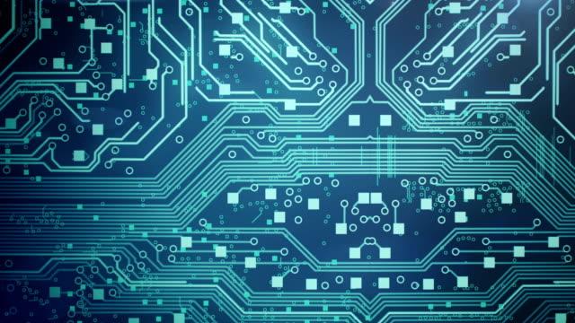 Circuit Board Background 1 - Loop video