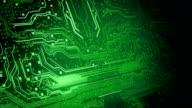 Circuit Board Background 2 (green) - Loop video