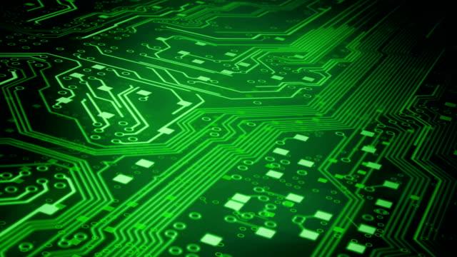 Circuit Board Background 3 (green) - Loop video