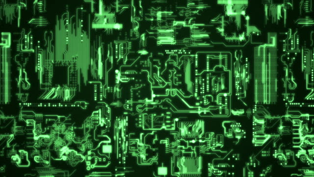 Circuit Board Background green video