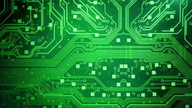 Circuit Board Background (green) - Loop video