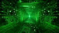 Circuit Board Tunnel (green) - Loop video