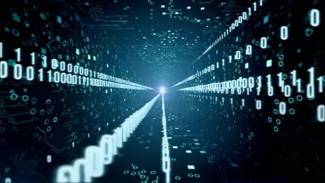 Circuit Board Tunnel (with Binary Code) video