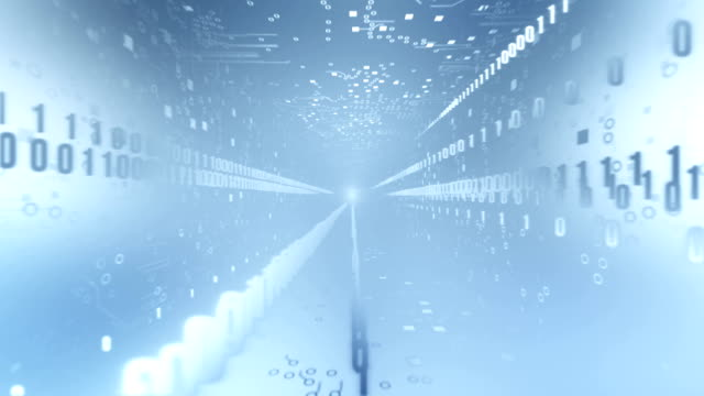 Circuit Board Tunnel (with Binary Code, light blue)) video
