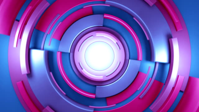 circular background abstract video