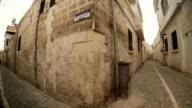 Circular Panorama Crossroad on Narrow Ancient Stone Streets Urfa video