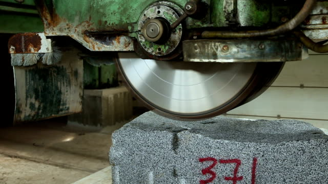 Circular saw for granite stone video