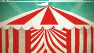 Circus Tent Green Screen Entrance HD video