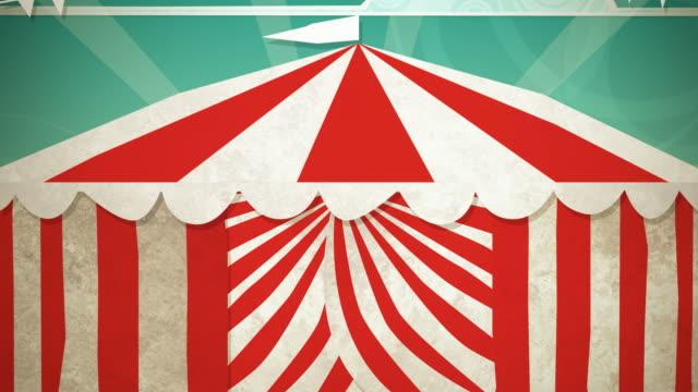 Circus Tent Green Screen Entrance HD video