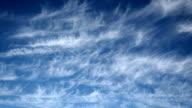 Cirrus Clouds, timelaps, HD Progressive Frames. Clean video