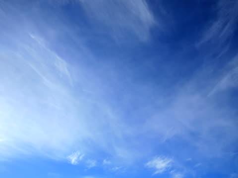 Cirrus Clouds, timelaps, Progressive Frames. Clean video