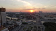 City Aerial View at Sunset video