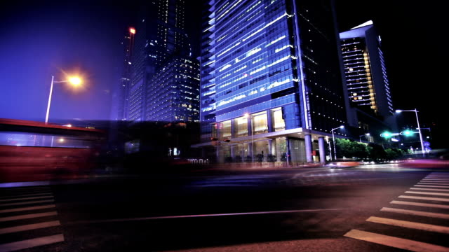 A city at nighttime video