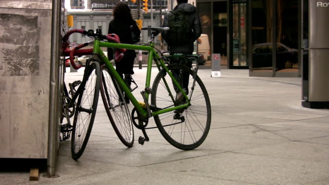 City bicycle. video