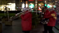 City brass band plays in the square. Blur. video