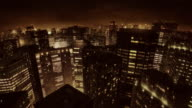 City buildings dancing in the night (preview darker than video) video