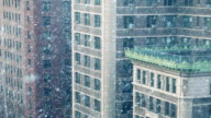 City Buildings In Blizzard video