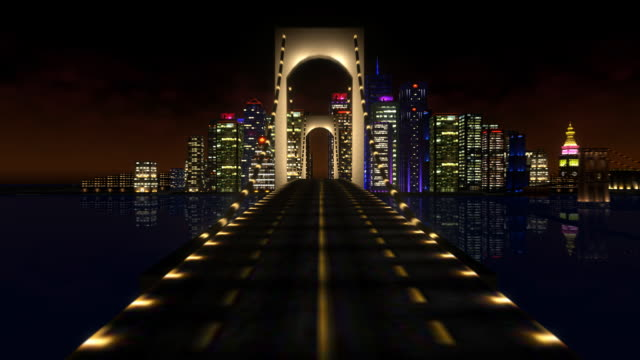 3D City Camera Fly video