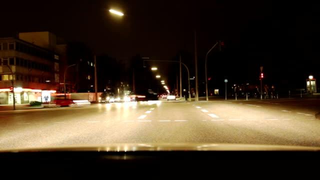 City Car drive at Night video