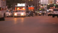 City car traffic video