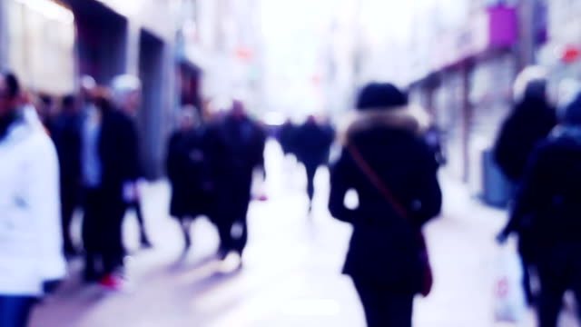 City Centre Shoppers in slow Motion video
