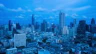 City day to night metropolis Bangkok video
