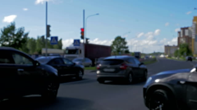 City Day Traffic. Blurred. Windy day video