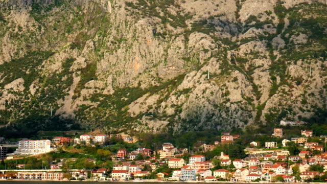 City 'Dobrota' in the Bay of Kotor, Montenegro video