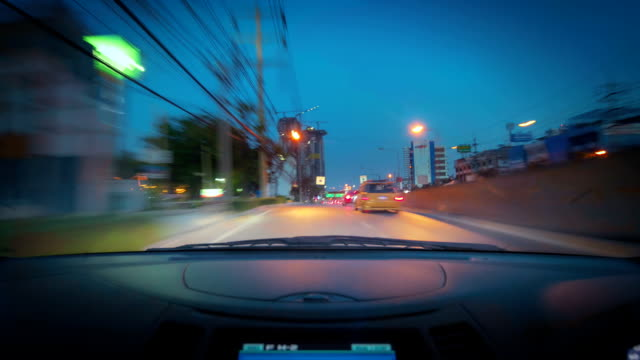 City Drive At Sunset video