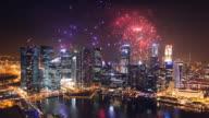 City fireworks video