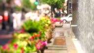City Fountain People Tilt Shift video