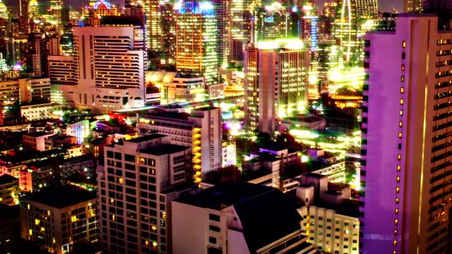 City illumination video