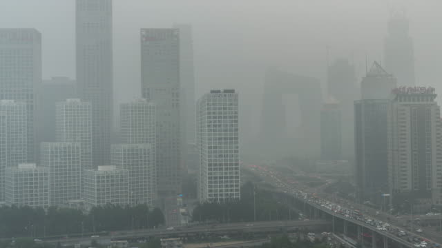 T/L HA PAN City in Air Pollution / Beijing, China video