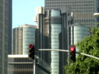 City Intersection Traffic Light Turns Green video