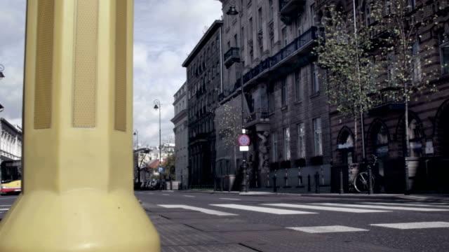 City landscape Warsaw, montage video