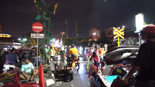 City life and traffic on Malioboro street video