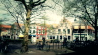 City Life at Delft,Holland video