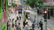 City life in Hong Kong video
